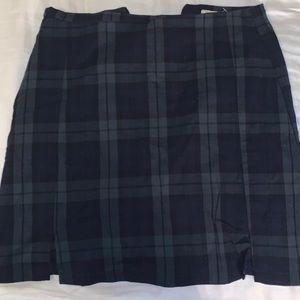 Green&blue cara skirt